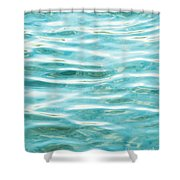 Bright Aqua Water Ripples Shower Curtain