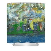 Bright Beach Shower Curtain