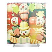 Bright Beaming Clown Show Act Shower Curtain