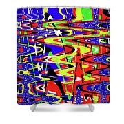 Bright Color Mix Abstract Shower Curtain