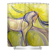 Bright Dancer Shower Curtain