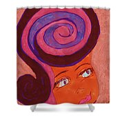 Bright Eyed Beauty Shower Curtain