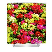 Bright Flowers Shower Curtain