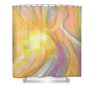 Bright Light Flight Shower Curtain