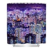 Bright Lights, Big City Shower Curtain by Susan Maxwell Schmidt