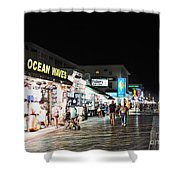 Bright Lights On The Boards Shower Curtain