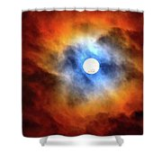 Bright Moon And Dark Clouds Shower Curtain