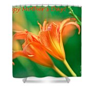 Bright Mother's Day Card Shower Curtain