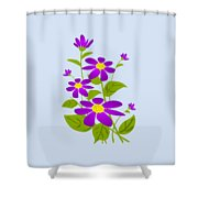 Bright Purple Shower Curtain