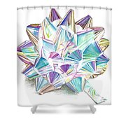 Bright Ribbon Shower Curtain