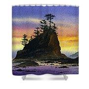 Bright Seacoast Sunset Shower Curtain