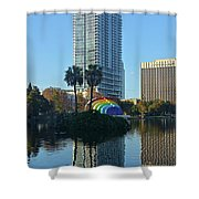 Bright Spot In Downtown Orlando Shower Curtain