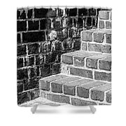 Bright Steps Dark Wall Shower Curtain