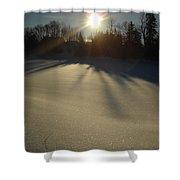 Bright Sun On Fresh Snow Shower Curtain
