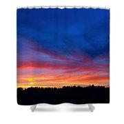 Bright Sunset Shower Curtain