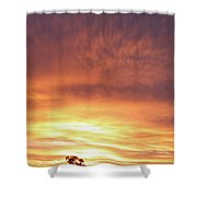 Bright Sunset Shower Curtain