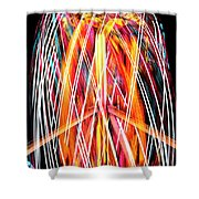 Brightly Colored Abstract Light Painting At Night From The Fireb Shower Curtain
