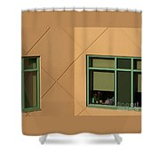 Brightly Geometric Shower Curtain