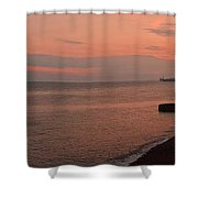 Brighton 2014 Sunset Looking From The Marina West Shower Curtain