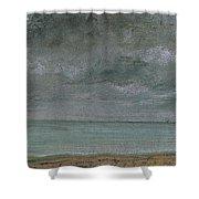 Brighton Beach Shower Curtain by John Constable