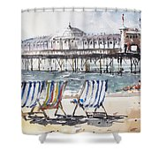 Brighton England Shower Curtain