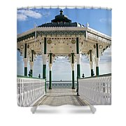 Brighton Seafront Gazebo Shower Curtain