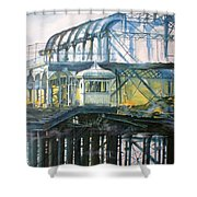 Brighton's West Pier-lone Survivor Shower Curtain