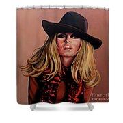 Brigitte Bardot Painting 1 Shower Curtain