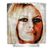 Brigitte Bardot By Mary Bassett Shower Curtain