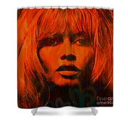 Brigitte Bardot Love Pop Art Shower Curtain