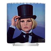 Brigitte Bardot Painting 2 Shower Curtain