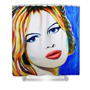 Brigitte Bardot Pop Art Portrait Shower Curtain