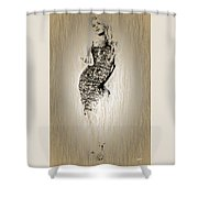 Brigitte Bardot Sketch Shower Curtain