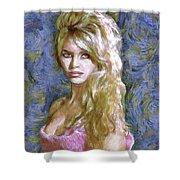 Brigitte Bardot Van Gogh Style Shower Curtain