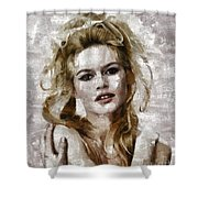 Brigitte Bardot, Vintage Actress Shower Curtain