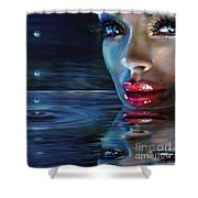 Brilliant Eyes Water Shower Curtain