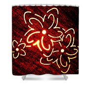 Brilliant Floral Abstract Shower Curtain