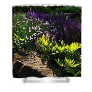 Brilliant Green Sunshine - Impressions Of Spring Shower Curtain