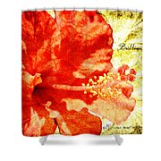 Brilliant Hibiscus Shower Curtain