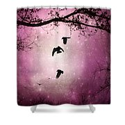 Brilliant Pink Surreal Sky Shower Curtain
