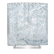Brilliant Shine. Series Ethereal Blue Shower Curtain