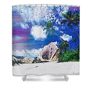 Brilliant Skyline In The Array Int The Mix Shower Curtain