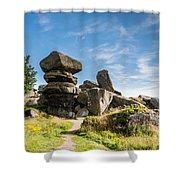 Brimham Rocks Shower Curtain