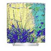 Brimstone Blue Shower Curtain