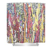 Brimstone Forest Shower Curtain