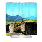 Brimstone Towards Nevis Shower Curtain