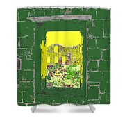 Brimstone Window Shower Curtain