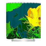 Brimstone Yellow Shower Curtain