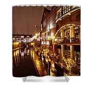 Brindleyplace At Night Shower Curtain