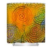 Bring Down Colored Rain Shower Curtain